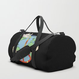 World Peace, Dove, Peace Sign, Earth Duffle Bag