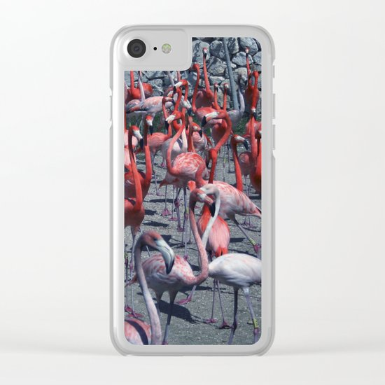 Flamingo 4 Clear iPhone Case