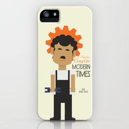 "Charlie Chaplin ""Modern Times"" movie poster, fine Art print, classic film with Paulette Goddard iPhone Case"