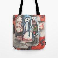 cross Tote Bags featuring cross by sabrina.gennari