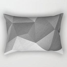 Grey polygonal geometric pattern . Rectangular Pillow