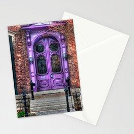 Purple Doorway, Brick Brownstone Stationery Cards