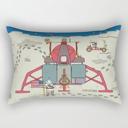 Moon Lem 1969 Rectangular Pillow