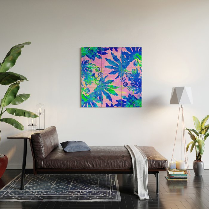 Tropical Adventure Neon Blue Pink And Green Tropical Homedecor