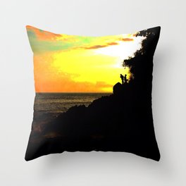 Sunset Chasers Throw Pillow