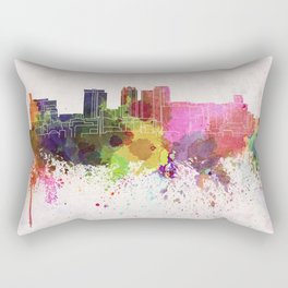Birmingham AL skyline in watercolor background Rectangular Pillow