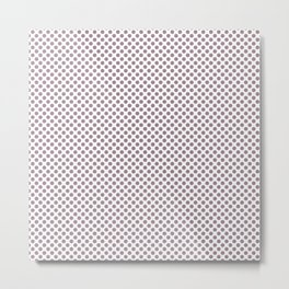 Elderberry Polka Dots Metal Print