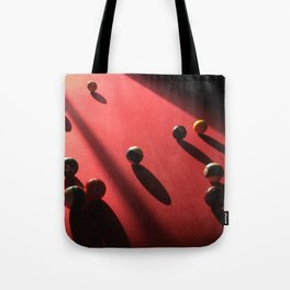 Blood Red Billiard Table and Balls Tote Bag