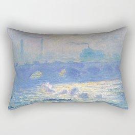 Claude Monet's Waterloo Bridge Rectangular Pillow