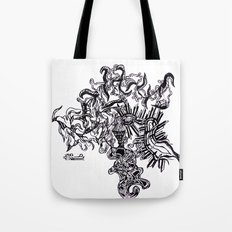 Four Way Branch Tote Bag