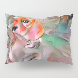 The Offended Beagle Pillow Sham