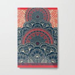 Rubino Blue Zen Namaste Metal Print