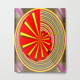 spinning abstraction Metal Print