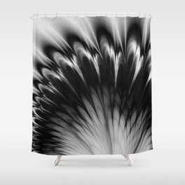 Black and White Elegance Shower Curtain