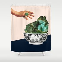 geode Shower Curtains featuring GEODE by Beth Hoeckel