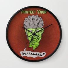 Zombie Brains Wall Clock