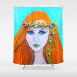 Redhead Poison Ivy Goddess Shower Curtain
