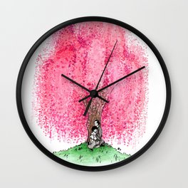 The Willow Tree of Kyoto Wall Clock