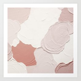 Abstract painting  3 - cloudy pink Art Print