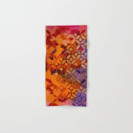 a piece of orange pink and purple Hand & Bath Towel