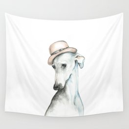 Bowler hat greyhound_ Illustrious dogs. Wall Tapestry