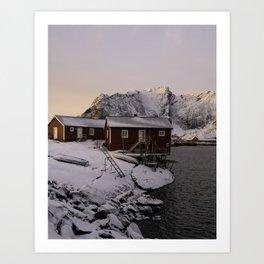 Winter Sunrise in Hamnøy Art Print