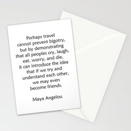 Maya Angelou Words of Wisdom on Travel Stationery Cards