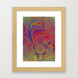 Kukat blue/orange Framed Art Print