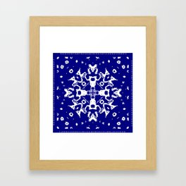CA Fantasy Deep Blue-White series #6 Framed Art Print