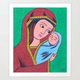 Virgin Mary and Jesus Art Print