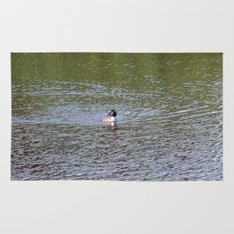 Swimming Duck On A Sunny Day Rug