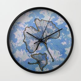 Ginko azzuro Wall Clock