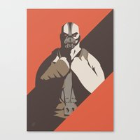 bane Canvas Prints featuring Bane by Florey