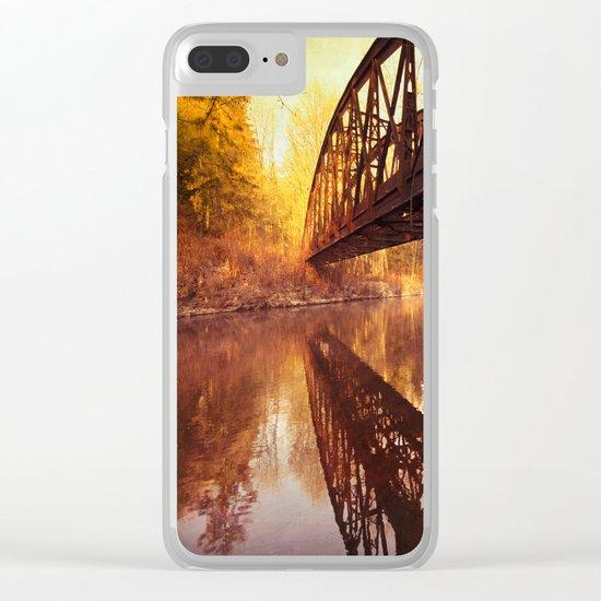Rusty Old Bridge Clear iPhone Case