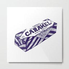 Caramel wafer pen drawing (blue) Metal Print