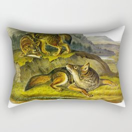 Prairie Wolf Rectangular Pillow