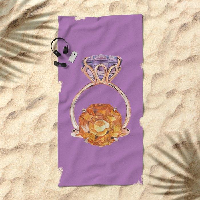 Circles on Purple Beach Towel