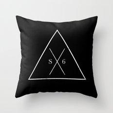 The Society Six (White Graphic) Throw Pillow