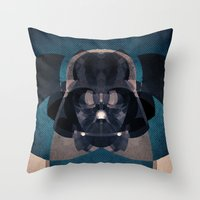 darth vader Throw Pillows featuring Darth Vader by lazylaves