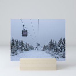 Sarajevo cable car in winter Mini Art Print