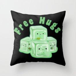 D&D - Gelatinous Hugs Throw Pillow