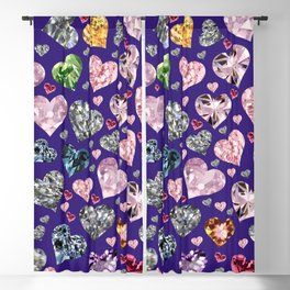 Heart Diamonds are Forever Love Violet Blackout Curtain