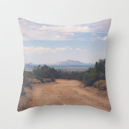 Down Desert Roads Throw Pillow