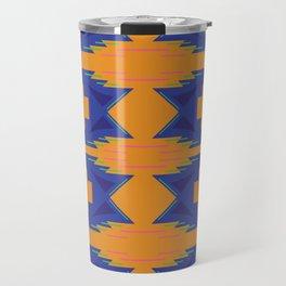 Design exotic aztecs Blue Gold Travel Mug