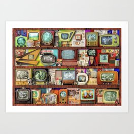 The Golden Age of Television Art Print