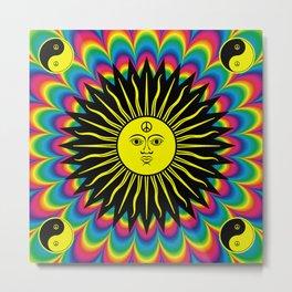 Psychedelic Hippie Trippy Summer Festival Metal Print
