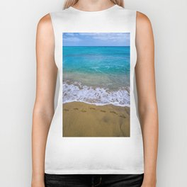 A walk on the beach Biker Tank