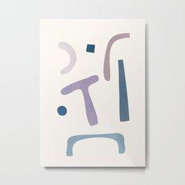 Minimal  Abstract Art 16 Metal Print