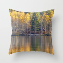 Silver Lake Reflections 2 Throw Pillow