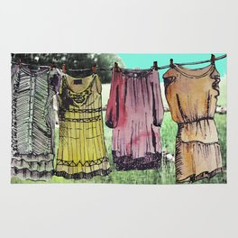 Hanging clothes Rug